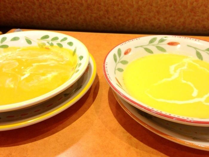 コーンクリームスープと、野菜好きのポタージュ